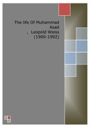 The life Of Muhammad Asad , Leopold Weiss (1900-1992)