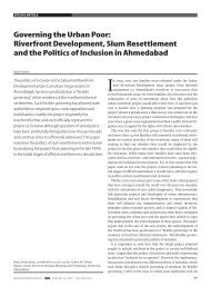 Governing the Urban Poor: Riverfront ... - India Water Portal