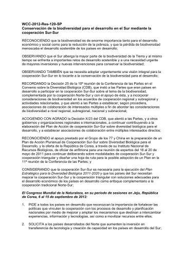 conservación de la diversidad biológica para el ... - IUCN Portals