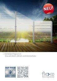 pdf-Katalog Outdoor - flexo Raumsysteme