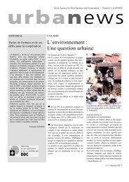 L'environnement : Une question urbaine - Cooperation at EPFL