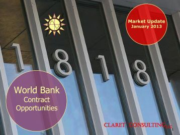 World Bank - Claret Consulting