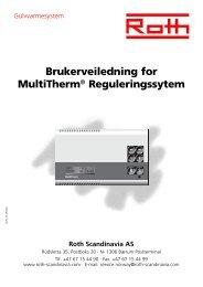 Brukerveiledning for MultiTherm® Reguleringssytem - Roth