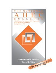 Spring-Summer 2008 – Urban Health in America - National AHEC ...