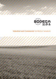 Industrial and Commercial Ventilation Solutions - Sodeca
