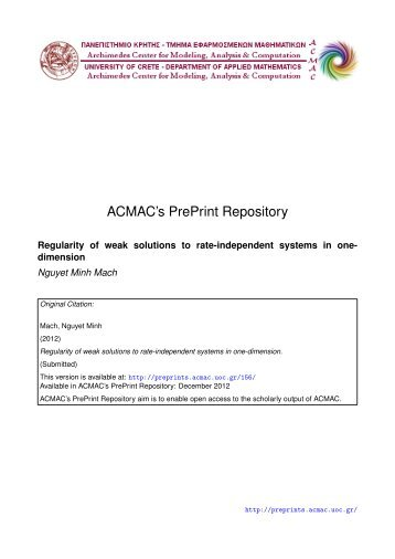 Download (350Kb) - ACMAC's PrePrint Repository