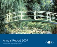 Annual Report 2007 - Research to Prevent Blindness
