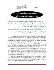 KIÊN NHẪN CHỊU ĐỰNG VỀ SỰ AN BÀI CỦA ALLAH - Chân Lý Islam