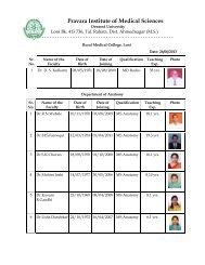 Faculty List 1 - Click Here... - Pravara Institute of Medical Sciences