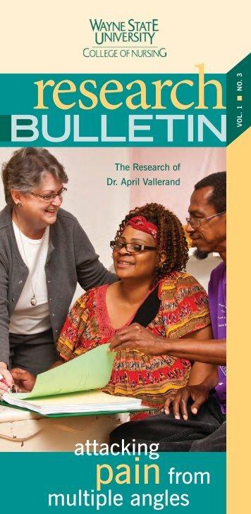 Research Bulletin - College of Nursing - Wayne State University