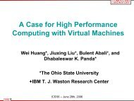 A Case for High Performance Computing with Virtual Machines