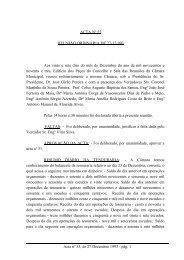 ACTA Nº 55 REUNIÃO ORDINÁRIA DE 27-12-993 Aos vinte e sete ...