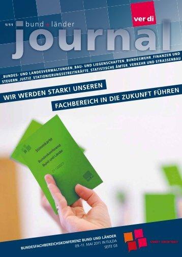 Bund + Länder journal 01/2011 (PDF, 2 MB - ver.di: Bund und Länder