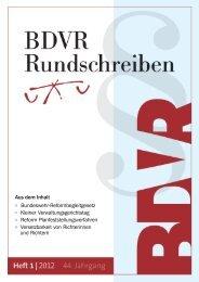 Aus dem Inhalt Bundeswehr-Reformbegleitgesetz Kleiner - BDVR
