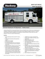 HEAVY DUTY RESCUE - Hackney Emergency Vehicles