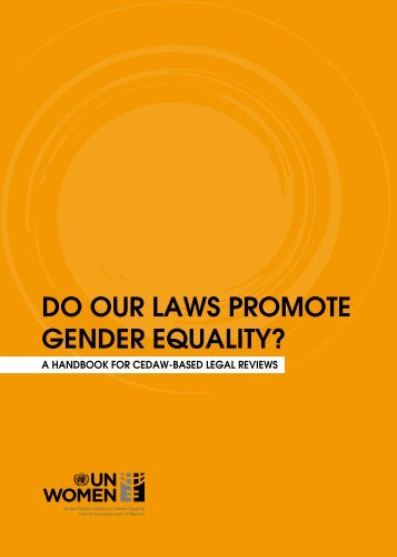 do our LAWs PromotE gEndEr EquALity? - CEDAW Southeast Asia
