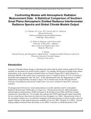 Confronting Models with Atmospheric Radiation ... - ARM