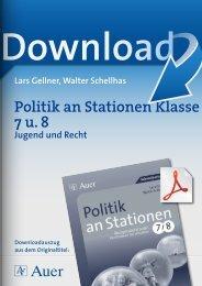 Politik an Stationen Klasse 7 u. 8