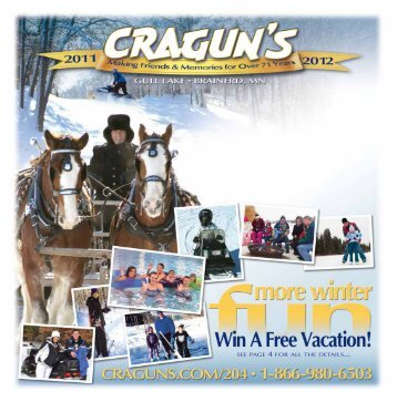 SEE PAGE 4 FOR ALL THE DETAILS... - Cragun's Resort on Gull Lake