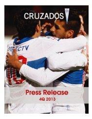 Cruzados Press Release 4Q 2013