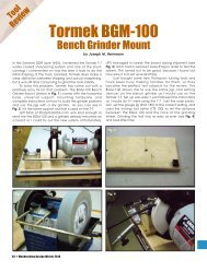 Woodturning Design Winter 2010 - Tormek