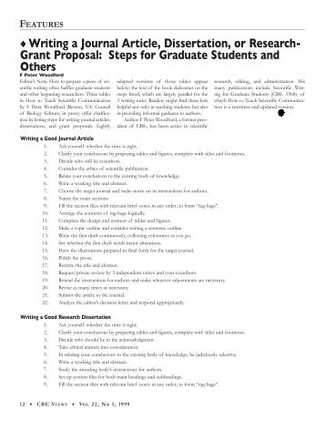 Writing a Journal Article, Dissertation, or Research- Grant Proposal ...