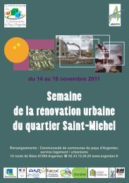 Semaine de la rénovation urbaine du quartier Saint-Michel - Argentan