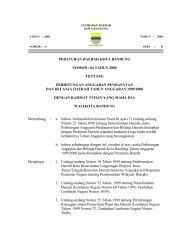 peraturan daerah kota bandung nomor : 04 tahun 2000 tentang ...