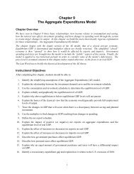 Chapter 9 The Aggregate Expenditures Model