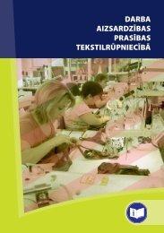 darba aizsardzības prasības tekstilrūpniecībā - Eiropas darba ...