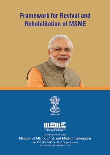 Framework for Revival and Rehabilitation of MSME