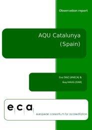 AQU Catalunya (Spain) - ECA