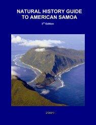 Natural History Guide to American Samoa - University of Hawaii at ...