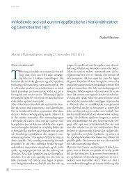 Rudolf Steiner: Eurytmioppførelser i Kristiania 1921