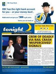 crew of deadly via rail crash 'misperceived' signals - tonight ...
