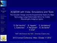 AO@SW with Vrala: Simulations and Tests - The ... - COMSOL.com