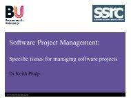 Software Project Management: - School of Design, Engineering, and ...