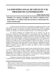la industria naval de uruguay y su proceso de clusterización