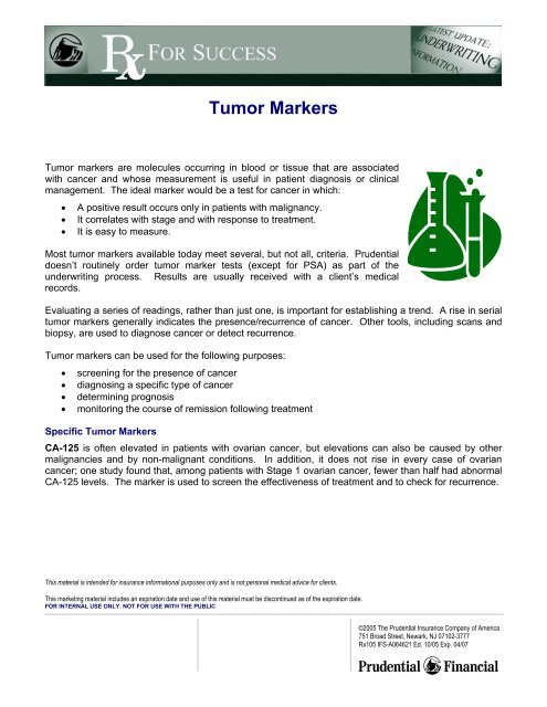 Tumor Markers - BSI / Home