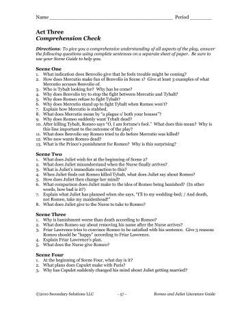 romeo and juliet reading and study guide act 4