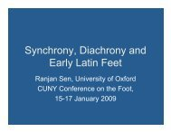 lexical - CUNY Phonology Forum