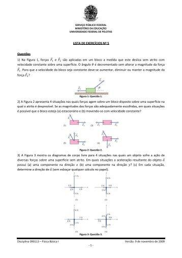 Lista de Exercícios Nº 5 - Chasqueweb.ufrgs.br