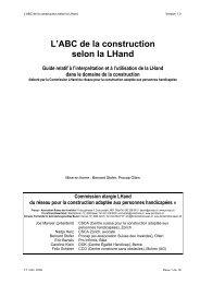 L'ABC de la construction selon la LHand - wheelchair.ch