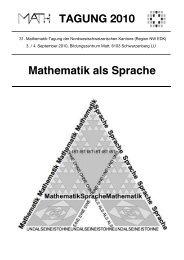 Dokumentation zur Mathematiktagung 2010 - NW EDK - D-EDK