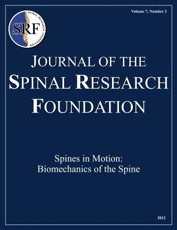 Journal of - Spinal Research Foundation