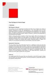 Field Trip Report A. Schmid, Nepal I. Summary - Ecohimal