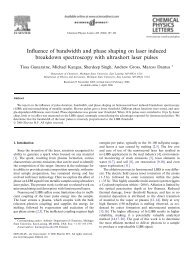 Influence of bandwidth and phase shaping on laser induced ...