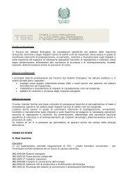 Profilo professionale Il Tecnico dei Sistemi Energetici ha ...