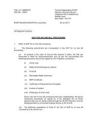 amended to sop for on-line bill processing - ECHS