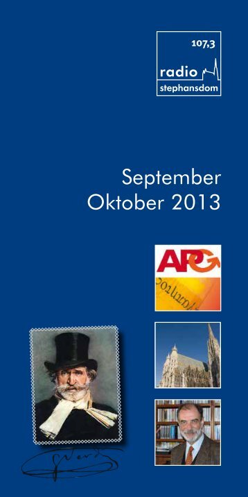 September Oktober 2013 - Radio Stephansdom